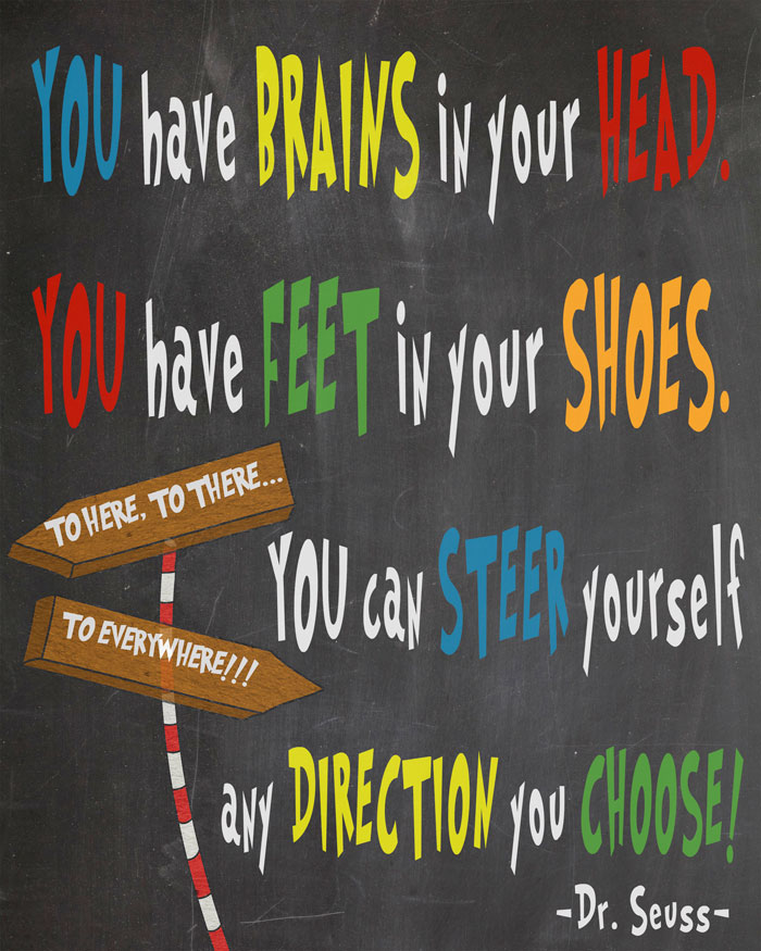 picture about Printable Dr Seuss Quotes called Absolutely free Dr. Seuss Printables For Decorating A Clroom Or
