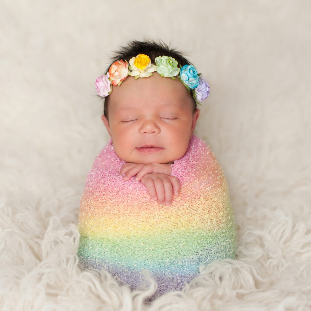 Rainbow Baby Announcement Ideas