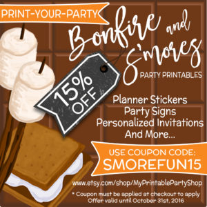 S'mores and Bonfire Party Printables - 15% OFF - Invitations, Planners Stickers, Party Signs And Beer Labels