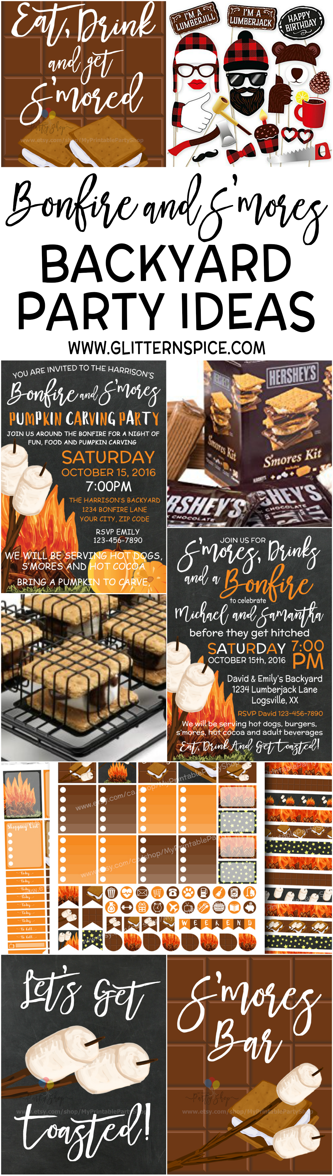 S'mores And Bonfire Backyard Party Ideas