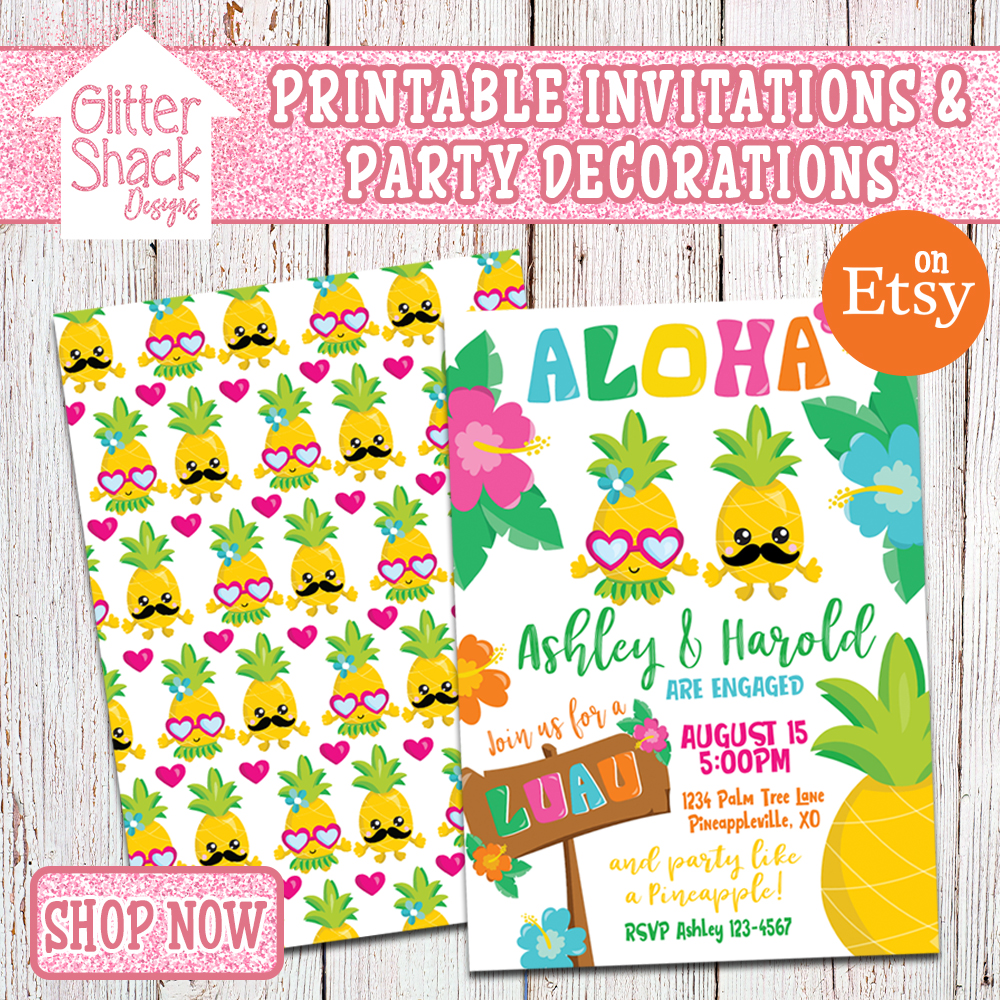 Glitter Shack Designs Printable Invitations And Party Decorations