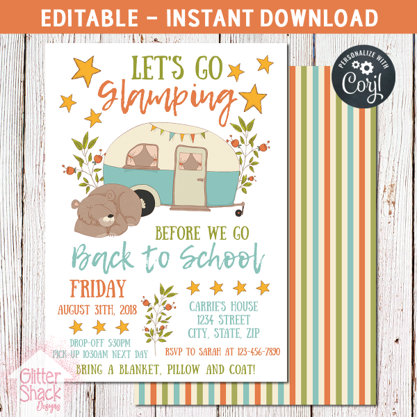 Printable Back To School Party Invitation