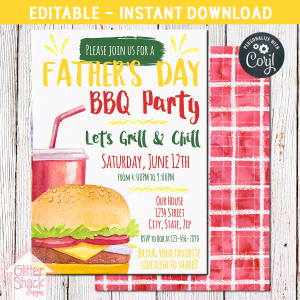 Printable Father's Day BBQ Invitation
