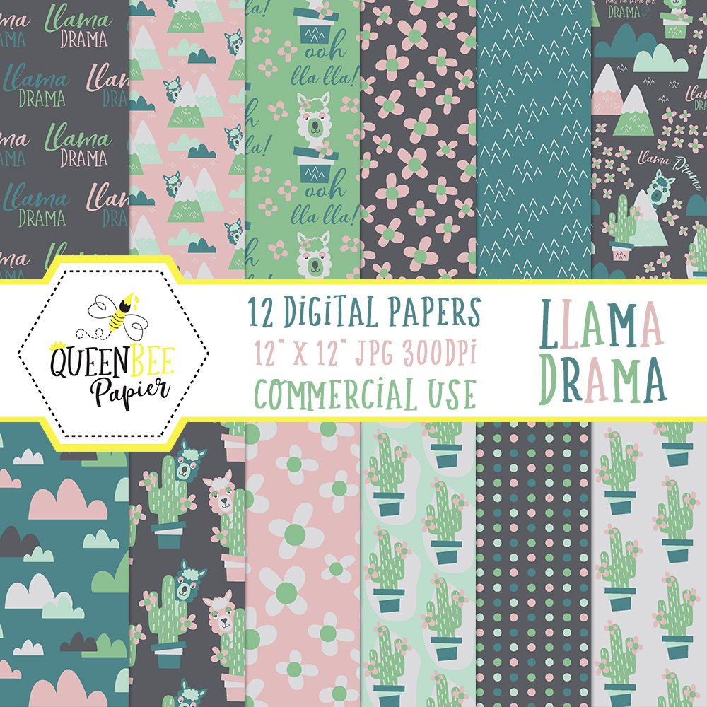 image regarding Free Printable Pattern Paper referred to as Cost-free Electronic (And Printable) Llama Sbook Paper Glitter